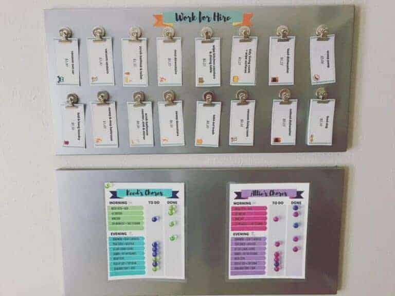 DIY Magnetic Chore Chart + Customizable Chore Chart Template