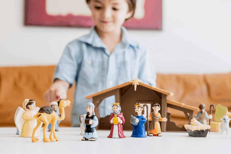 "Peanuts Christmas Nativity Deluxe Figure Set  /""NEW/"""