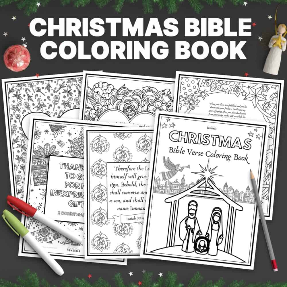 Christmas Bible Verse Coloring Book