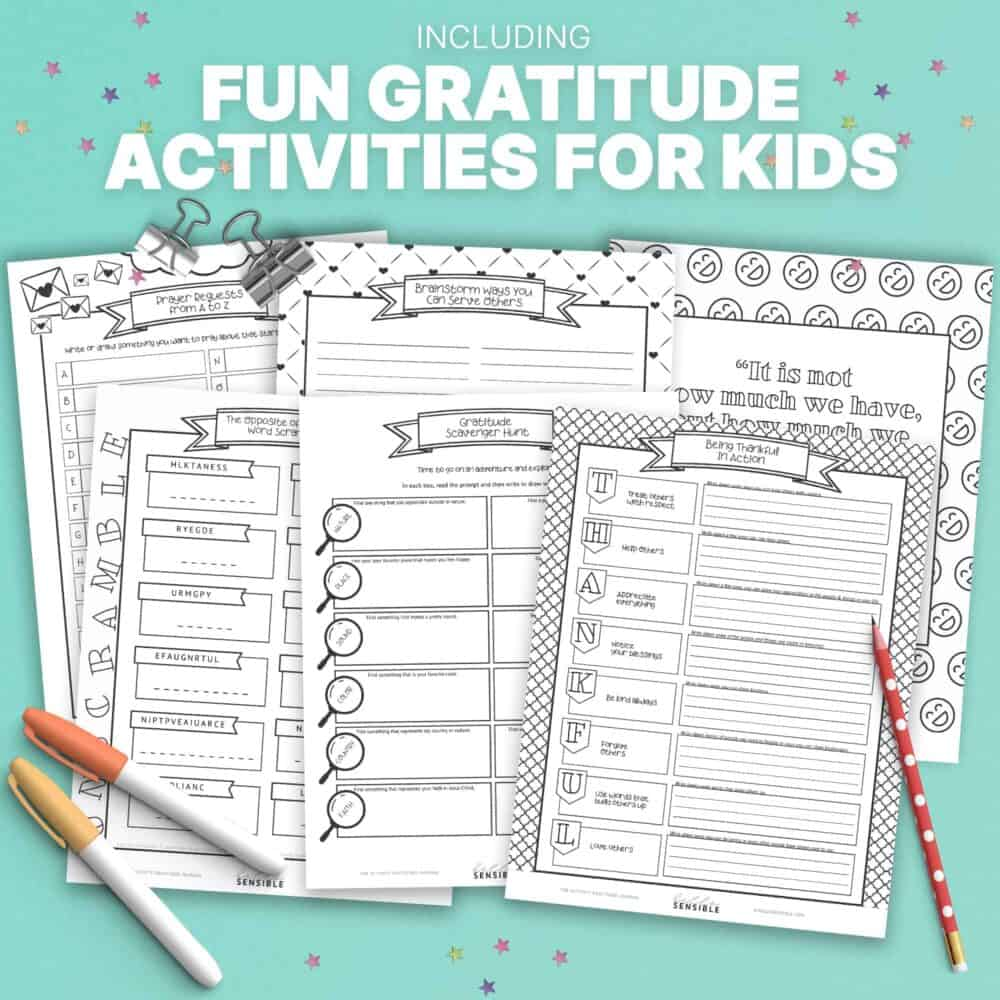 Kids Activity Gratitude Journal