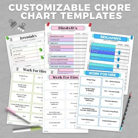 Customizable Chore Chart Templates-Images-V1
