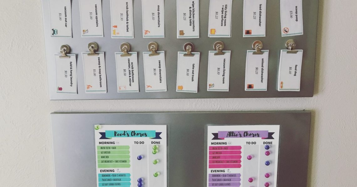 Hello Sensible's Customizable Chore Chart and Work For Hire Commission System for Kids